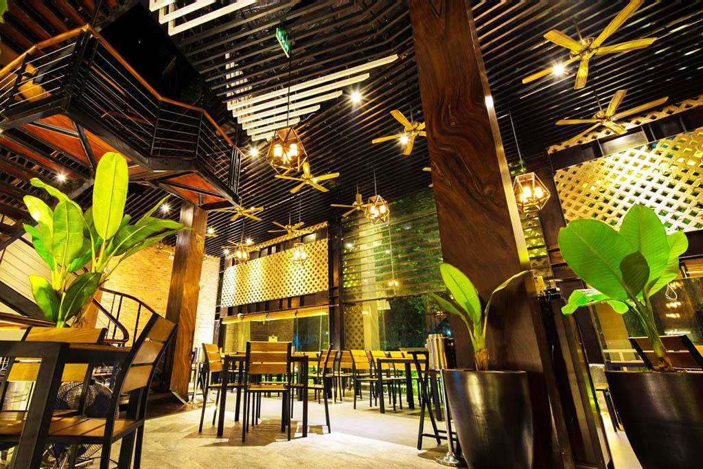 Thiết kế nhà hàng ăn chay 2