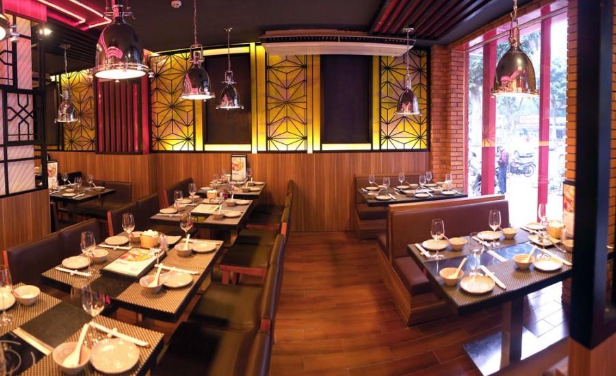 tư vấn thiết kế nội thất nhà hàng ăn buffe 3