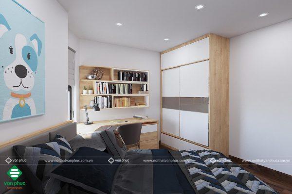 Thiết kế nội thất phòng ngủ không vuông vắn