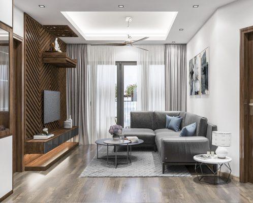 Mẫu nội thất phòng khách tại căn hộ Samsora Premier