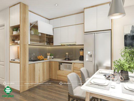 Mẫu phòng bếp cho người mệnh Kim